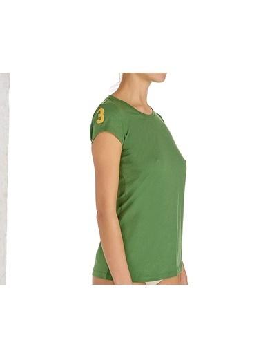 U.S. Polo Assn. Yuvarlak Yaka T-Shirt Yeşil